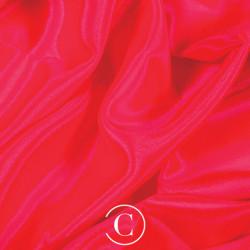 SATIN CHIFFON CC FLUORESCENT RED
