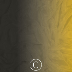 SATIN CHIFFON SHADED CC BLACK ON GOLD