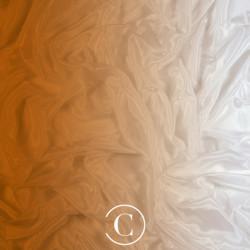 SATIN CHIFFON SHADED CC CAPPUCCINO ON WHITE