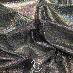 HOLOGRAM LYCRA SILVER ON BLACK