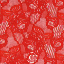LACE FLORAL CASCADE CC FLUORESCENT RED