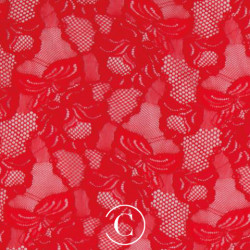 LACE FLORAL CASCADE CC RED
