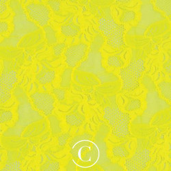 LACE FLORAL CASCADE CC SASSY YELLOW