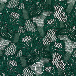 LACE FLORAL CASCADE CC FOREST GREEN