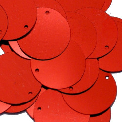 ONE COLOR SEQUINS RED 18MM