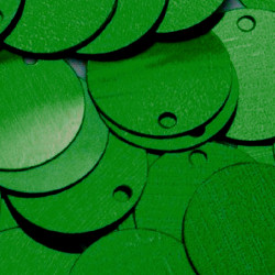 ONE COLOR SEQUINS GREEN 24MM