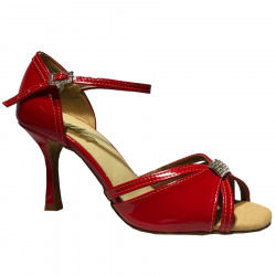 SHOES SANDRA RED PATENT